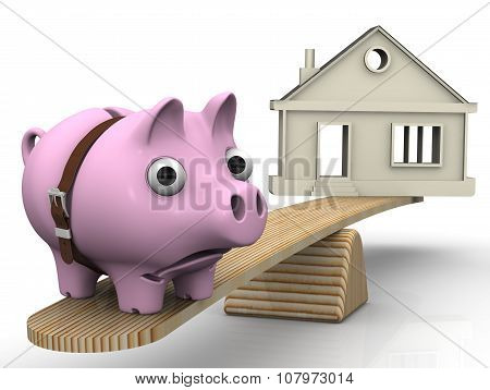 Expensive real estate. Financial concept