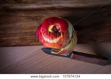 Skin Peeled Apple