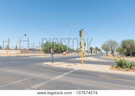 Street Scene In Universitas, A Suburb Of Bloemfontein