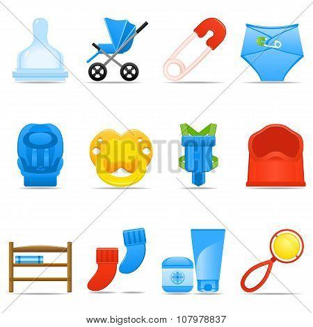 Icon Set Baby Care