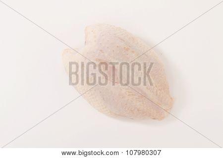 butchered raw chicken