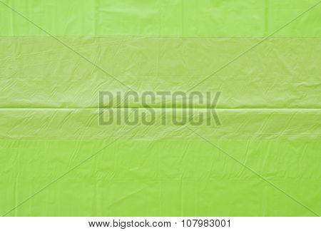 Green Plastic Bags Wrinkled