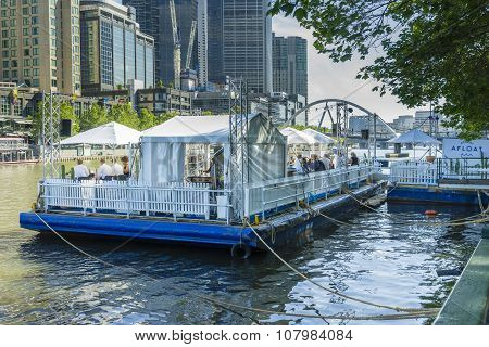 View Of New Floating Restaurant And Bar In Melbourne