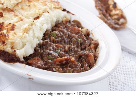 home made cottage pie meal