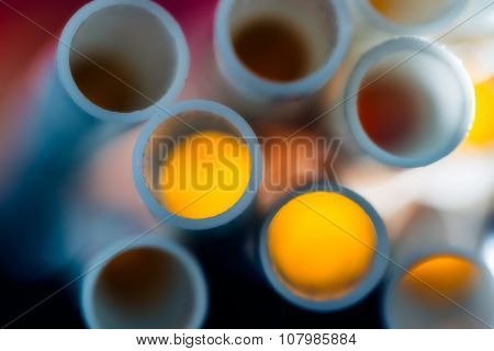 Colorful Pipes Or Drink Straws Abstraction