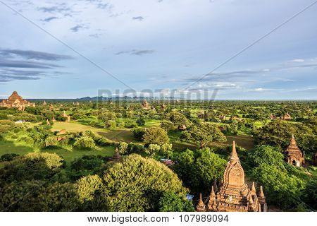 Pagoda Landscape The Temples Of Bagan(pagan), Mandalay, Burma