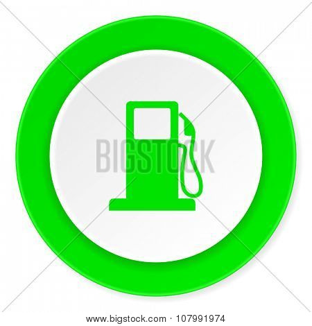 petrol green fresh circle 3d modern flat design icon on white background