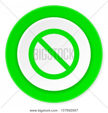 access denied green fresh circle 3d modern flat design icon on white background