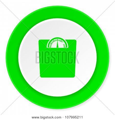 weight green fresh circle 3d modern flat design icon on white background