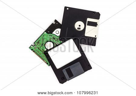 Floppy Disk On White Background