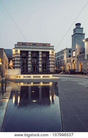 Piazza Della Victoria In Brescia