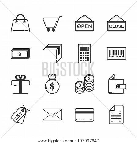 Set Of Shopping And E-commerce Icons
