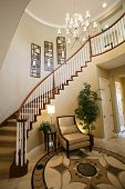 picture of bannister  - a staircase and entry way in a beautiful home interior - JPG