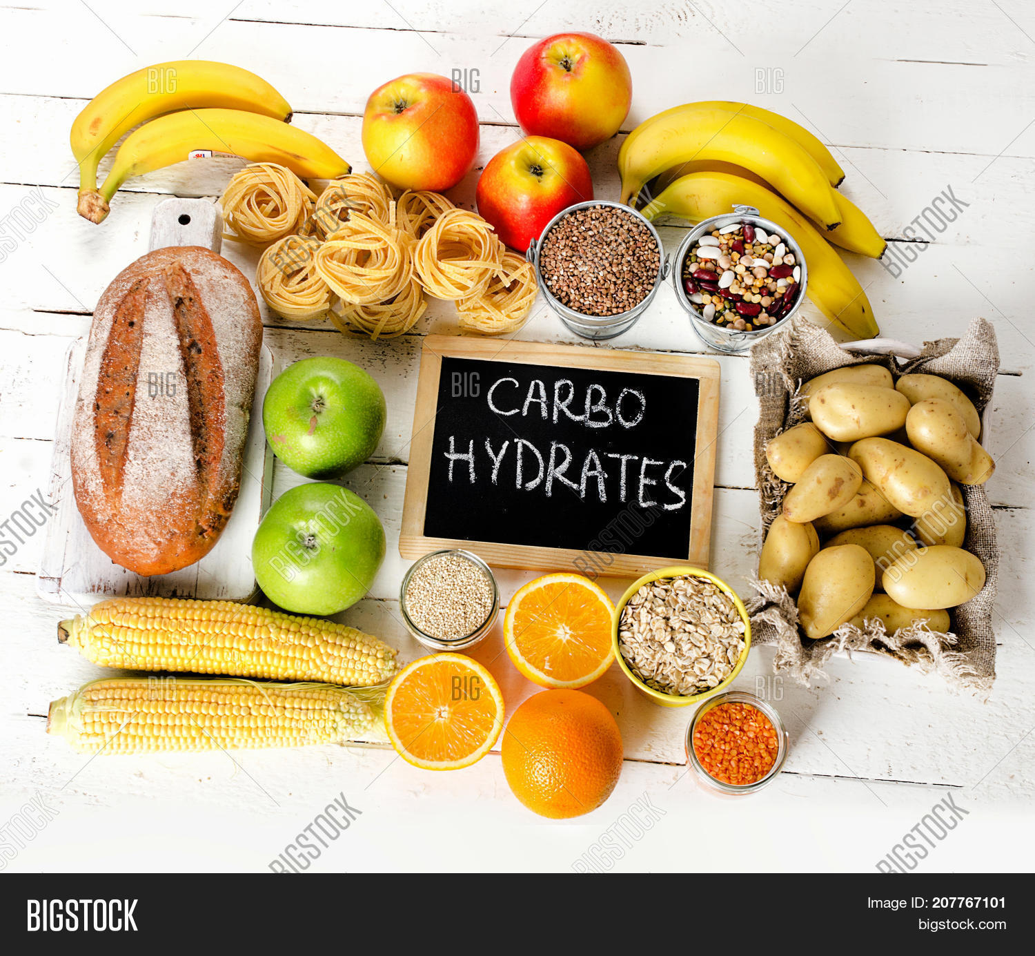 Foods with high carbohydrates