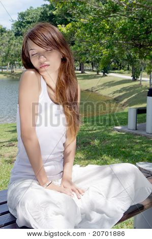 Sexy And Pretty Of Young Woman Outdoors.
