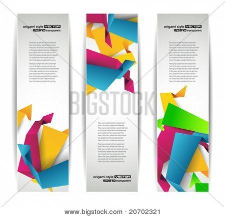 Set of abstract modern header banner for flyer or website