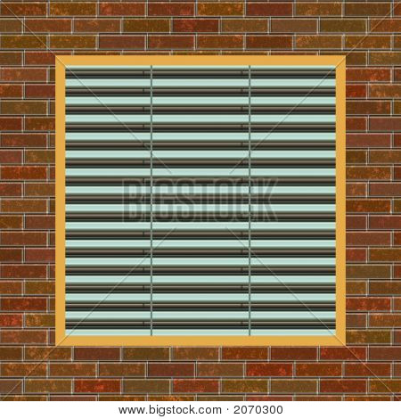 Brick Wall With A/C Vent