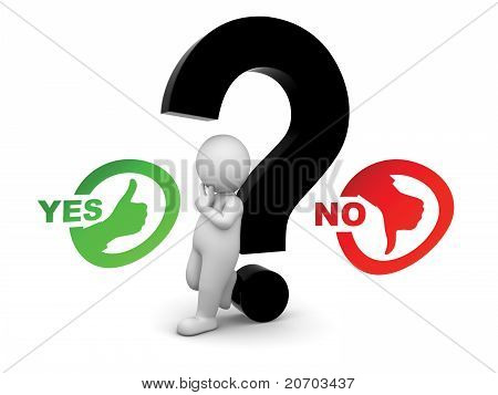 Man Confused Between Yes And Know