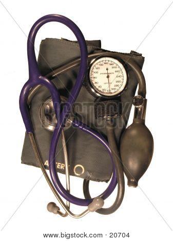 Manguito de pressão arterial & estetoscópio