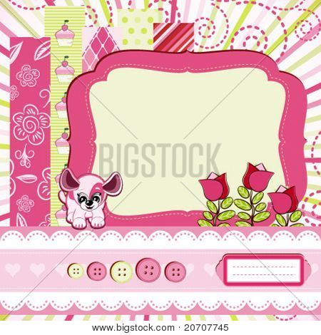 Baby girl Scrap background.