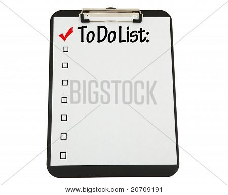 Black Clipboard With White Paper