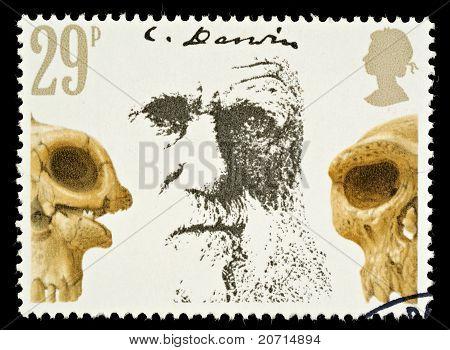 Charles Darwin Postage Stamp