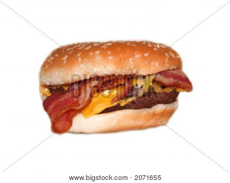 Bacon Burger Isolated