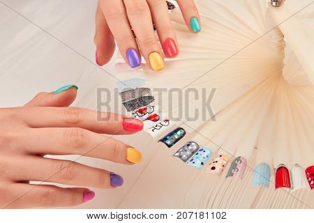 Stylish Manicure And Nail Art Samples Beautiful Hands With Pastel
