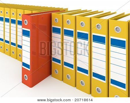 Organized office folders