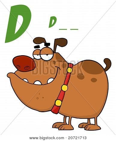 D Is For Dog Over A Bulldog