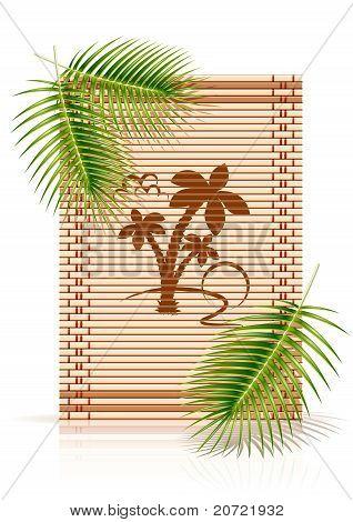 Bamboo Mat Tropic Palm
