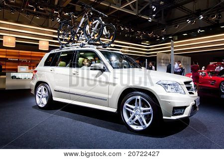 Moscow, Russia - August 25: Grey Jeep Car Mersedes Glk  At Moscow International Exhibition Interauto