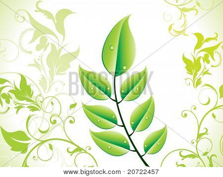 Abstract Green Eco Leaf