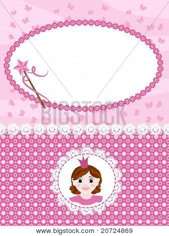 Tarjeta de invitación de princesa