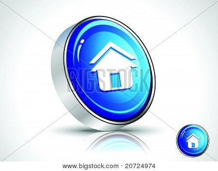 Abstract Glossy Home Icon.eps