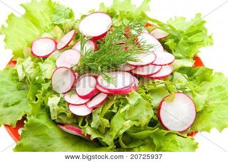 Lettuce And Radishes Cutting Circles