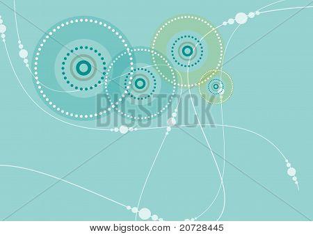 Circular Pattern In Teal