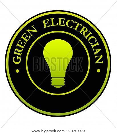 Green Electrician Symbol