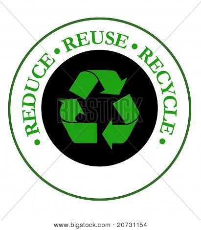 Reducir el emblema del reciclaje