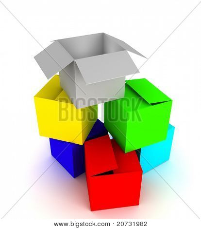 matriz de la caja color