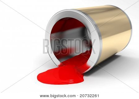 the bank of red paint