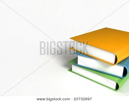 books massive on white background #2