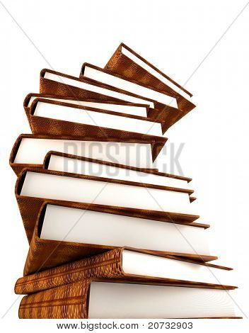 books massive isolated on white background