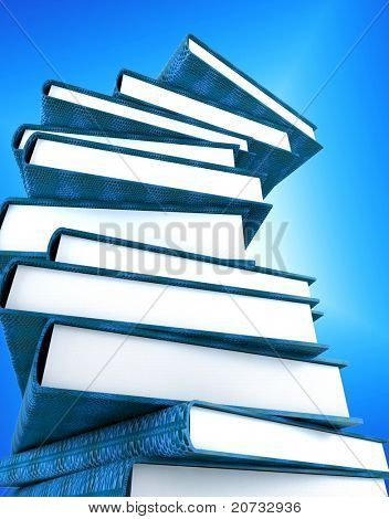 books massive isolated on white background