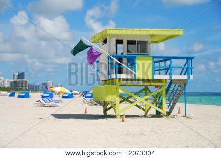 Coloful Lifeguard Stand