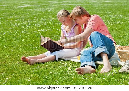 Two Teenagers At Picnic