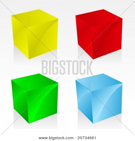 vector illustration with 3d presets