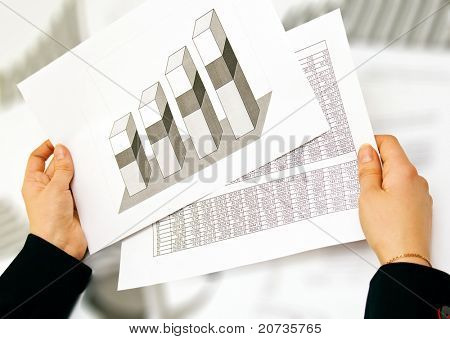 business lady and graphs