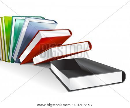Vector illustration of books