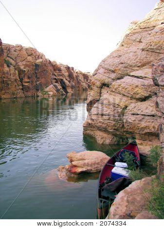 Canoing In Clear Creek Reservoir  Winslow Az